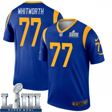 Youth Nike Los Angeles Rams Andrew Whitworth Royal Super Bowl LIII Bound Jersey - Legend