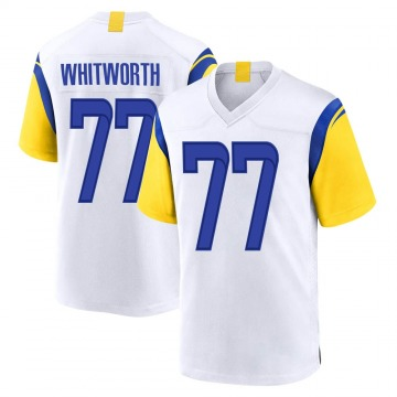 Youth Nike Los Angeles Rams Andrew Whitworth White Jersey - Game