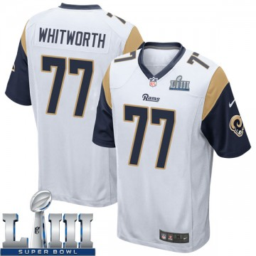 Youth Nike Los Angeles Rams Andrew Whitworth White Super Bowl LIII Bound Jersey - Game