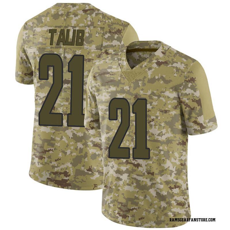 0a347f0c Youth Nike Los Angeles Rams Aqib Talib Camo 2018 Salute to Service Jersey -  Limited