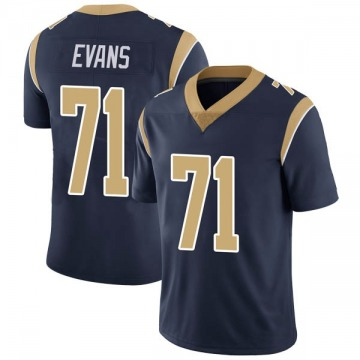Youth Nike Los Angeles Rams Bobby Evans Navy Team Color Vapor Untouchable Jersey - Limited