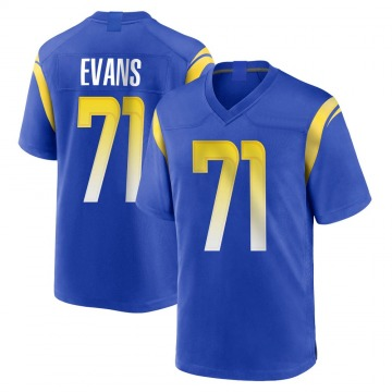 Youth Nike Los Angeles Rams Bobby Evans Royal Alternate Jersey - Game