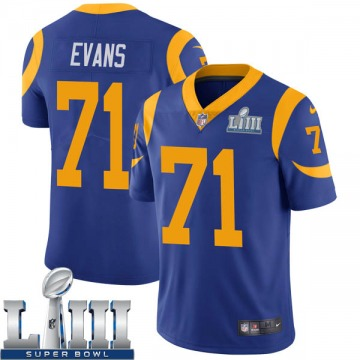 Youth Nike Los Angeles Rams Bobby Evans Royal Alternate Super Bowl LIII Bound Vapor Untouchable Jersey - Limited