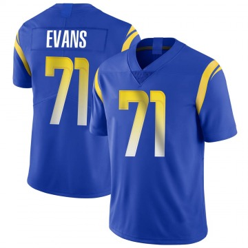 Youth Nike Los Angeles Rams Bobby Evans Royal Alternate Vapor Untouchable Jersey - Limited
