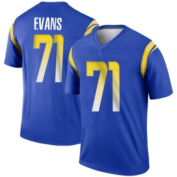 Youth Nike Los Angeles Rams Bobby Evans Royal Jersey - Legend