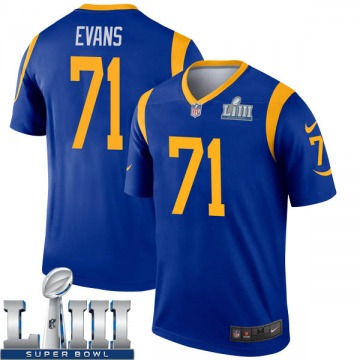 Youth Nike Los Angeles Rams Bobby Evans Royal Super Bowl LIII Bound Jersey - Legend
