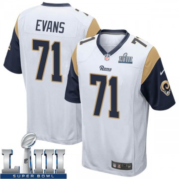 Youth Nike Los Angeles Rams Bobby Evans White Super Bowl LIII Bound Jersey - Game
