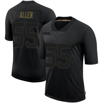 Youth Nike Los Angeles Rams Brian Allen Black 2020 Salute To Service Jersey - Limited