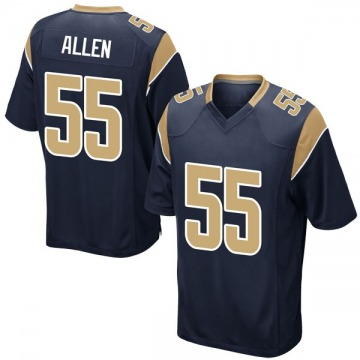 Youth Nike Los Angeles Rams Brian Allen Navy Team Color Jersey - Game