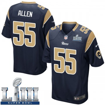 Youth Nike Los Angeles Rams Brian Allen Navy Team Color Super Bowl LIII Bound Jersey - Game