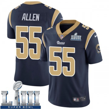 Youth Nike Los Angeles Rams Brian Allen Navy Team Color Super Bowl LIII Bound Vapor Untouchable Jersey - Limited