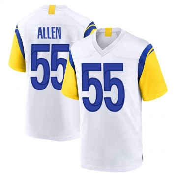 Youth Nike Los Angeles Rams Brian Allen White Jersey - Game