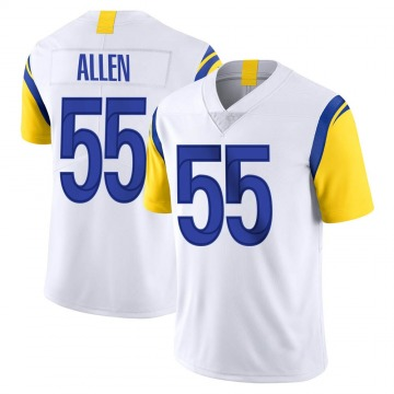 Youth Nike Los Angeles Rams Brian Allen White Vapor Untouchable Jersey - Limited