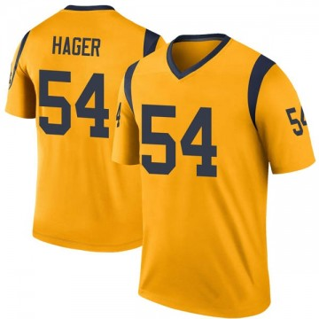 Youth Nike Los Angeles Rams Bryce Hager Gold Color Rush Jersey - Legend