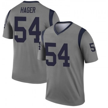Youth Nike Los Angeles Rams Bryce Hager Gray Inverted Jersey - Legend
