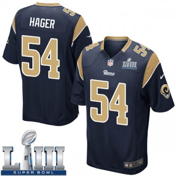 Youth Nike Los Angeles Rams Bryce Hager Navy Team Color Super Bowl LIII Bound Jersey - Game