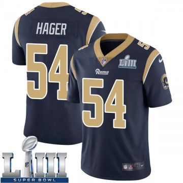 Youth Nike Los Angeles Rams Bryce Hager Navy Team Color Super Bowl LIII Bound Vapor Untouchable Jersey - Limited