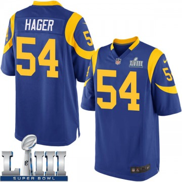 Youth Nike Los Angeles Rams Bryce Hager Royal Alternate Super Bowl LIII Bound Jersey - Game