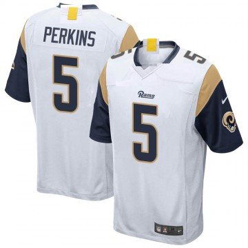 Youth Nike Los Angeles Rams Bryce Perkins White Jersey - Game
