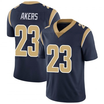 Youth Nike Los Angeles Rams Cam Akers Navy Team Color Vapor Untouchable Jersey - Limited