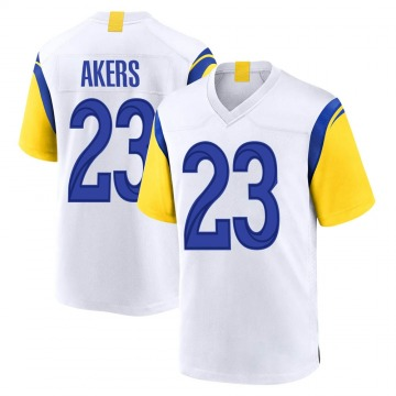 Youth Nike Los Angeles Rams Cam Akers White Jersey - Game