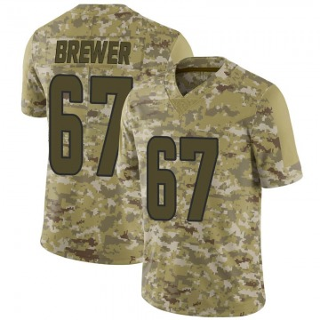 Youth Nike Los Angeles Rams Chandler Brewer Camo 2018 Salute to Service Jersey - Limited