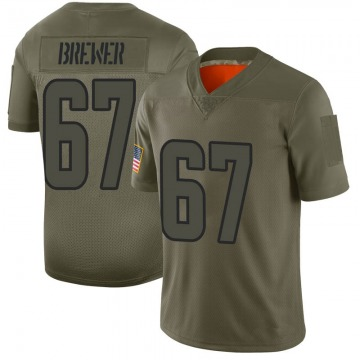 Youth Nike Los Angeles Rams Chandler Brewer Camo 2019 Salute to Service Jersey - Limited