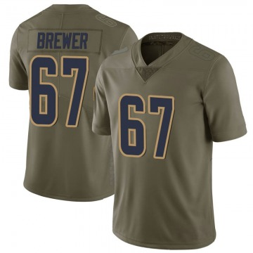 Youth Nike Los Angeles Rams Chandler Brewer Green 2017 Salute to Service Jersey - Limited