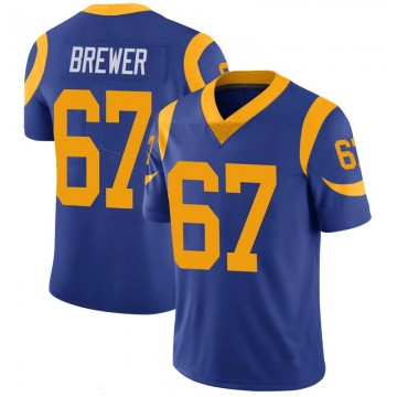 Youth Nike Los Angeles Rams Chandler Brewer Royal 100th Vapor Jersey - Limited