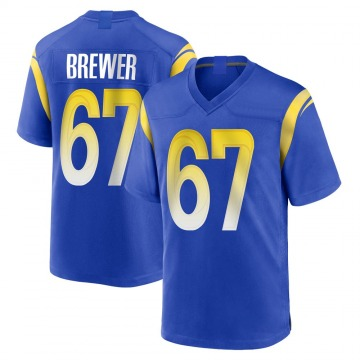 Youth Nike Los Angeles Rams Chandler Brewer Royal Alternate Jersey - Game