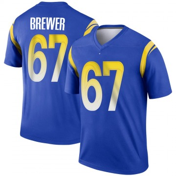 Youth Nike Los Angeles Rams Chandler Brewer Royal Jersey - Legend