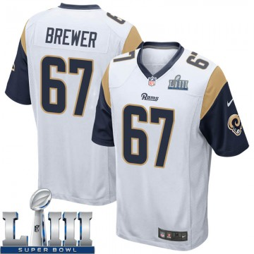 Youth Nike Los Angeles Rams Chandler Brewer White Super Bowl LIII Bound Jersey - Game