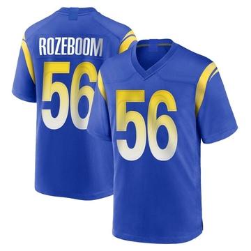 Youth Nike Los Angeles Rams Christian Rozeboom Royal Alternate Jersey - Game