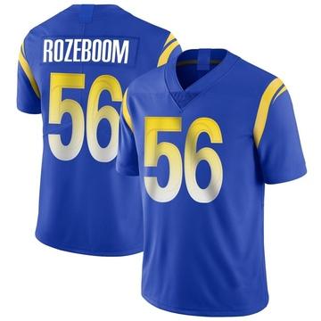 Youth Nike Los Angeles Rams Christian Rozeboom Royal Alternate Vapor Untouchable Jersey - Limited