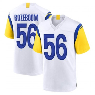 Youth Nike Los Angeles Rams Christian Rozeboom White Jersey - Game