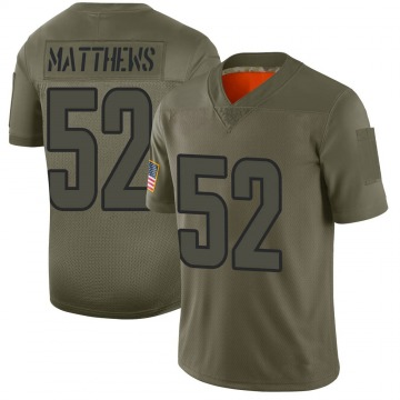 Youth Nike Los Angeles Rams Clay Matthews Camo 2019 Salute to Service Jersey - Limited