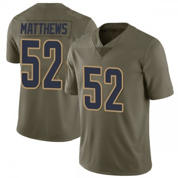 Youth Nike Los Angeles Rams Clay Matthews Green 2017 Salute to Service Jersey - Limited
