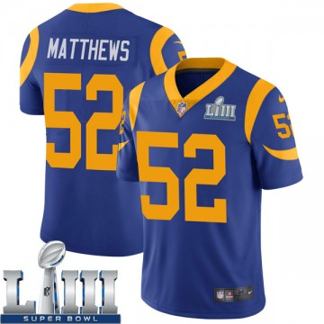 Youth Nike Los Angeles Rams Clay Matthews Royal Alternate Super Bowl LIII Bound Vapor Untouchable Jersey - Limited