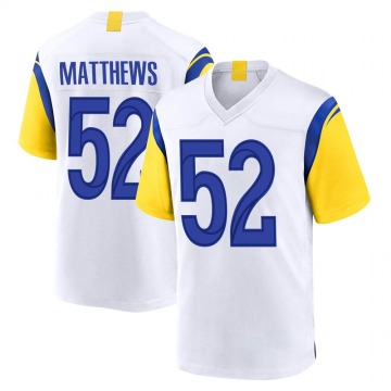 Youth Nike Los Angeles Rams Clay Matthews White Jersey - Game