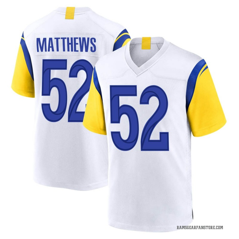 newest 953bd 90f8f Youth Nike Los Angeles Rams Clay Matthews White Jersey - Game