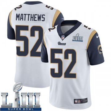 Youth Nike Los Angeles Rams Clay Matthews White Super Bowl LIII Bound Vapor Untouchable Jersey - Limited