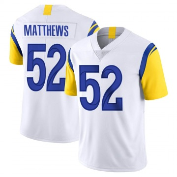 Youth Nike Los Angeles Rams Clay Matthews White Vapor Untouchable Jersey - Limited