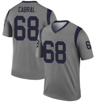 Youth Nike Los Angeles Rams Cohl Cabral Gray Inverted Jersey - Legend