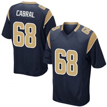 Youth Nike Los Angeles Rams Cohl Cabral Navy Team Color Jersey - Game