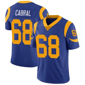 Youth Nike Los Angeles Rams Cohl Cabral Royal 100th Vapor Jersey - Limited
