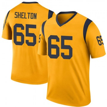 Youth Nike Los Angeles Rams Coleman Shelton Gold Color Rush Jersey - Legend