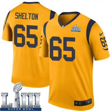 Youth Nike Los Angeles Rams Coleman Shelton Gold Color Rush Super Bowl LIII Bound Jersey - Legend