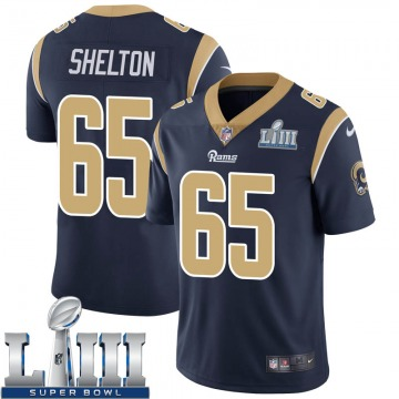 Youth Nike Los Angeles Rams Coleman Shelton Navy Team Color Super Bowl LIII Bound Vapor Untouchable Jersey - Limited