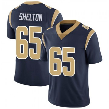 Youth Nike Los Angeles Rams Coleman Shelton Navy Team Color Vapor Untouchable Jersey - Limited