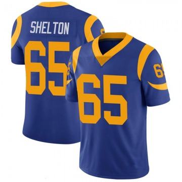 Youth Nike Los Angeles Rams Coleman Shelton Royal 100th Vapor Jersey - Limited